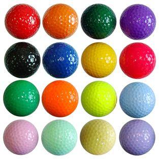 Kids Color Golf Balls - 1 dz. Floater - My Kids Golf Clubs .com