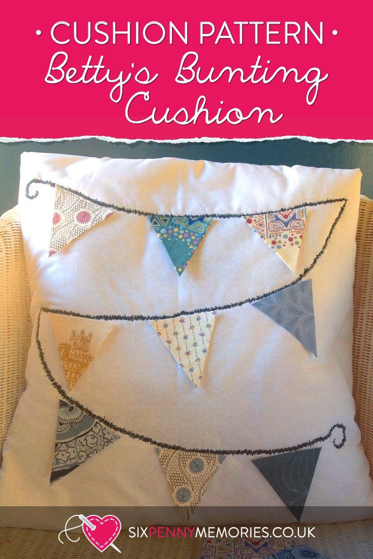 Betty's Bunting Cushion