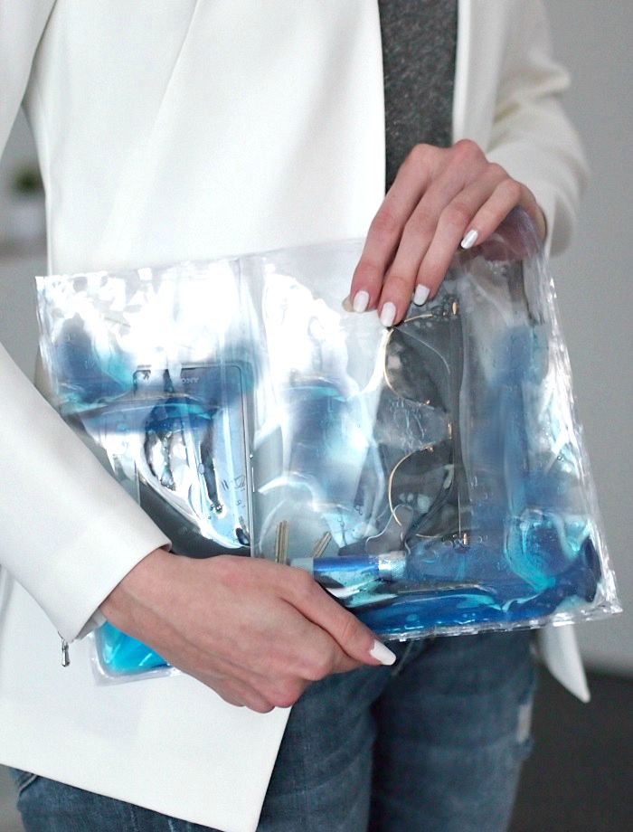 DIY christopher kane jelly clutch
