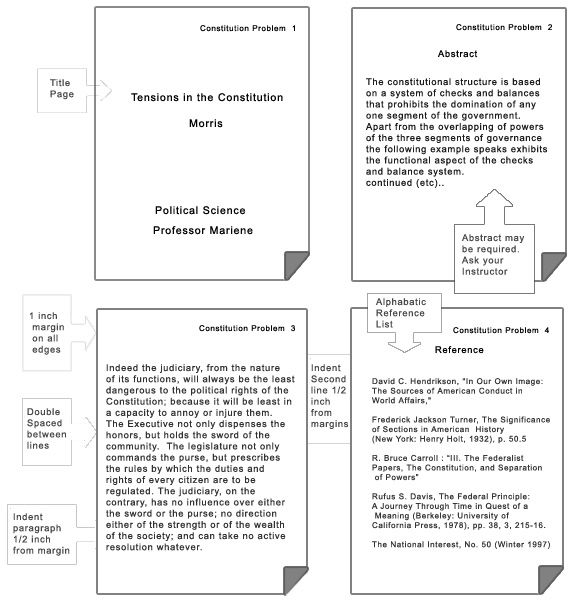 apa research paper format template