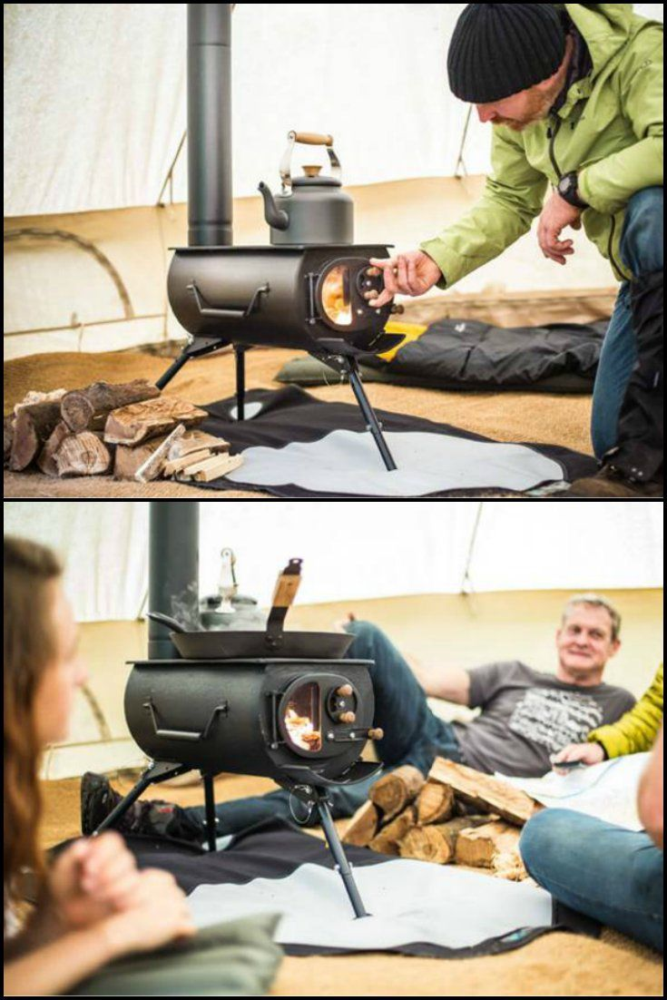 Stay warm and cozy on your next camping trip with this portable wood stove.  http://theownerbuildernetwork.co/reviews/portable-wood-stove/  Use this hot little number to cook your dinner, dry your gear, heat your shelter, or just warm your hands and feet on a cold winter's night. Safer than an open fire.  It's small enough to transport in your car and hand carry to your campsite.