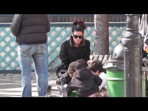 Sandra Bullock Can't Take Selfish Trips Due to Parenthood - Splash News - YouTube