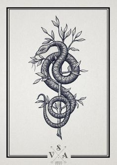 Image result for spear and snake tattoo