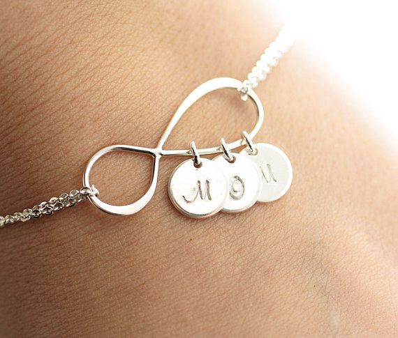 Personalized Infinity Bracelet Initial Bracelet by BijouxbyMeg