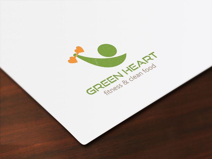 Logo design prepared for a contest. #logodesign #fitness #cleanfood #fitnesslogo #logo #greenheart #barberrylogo