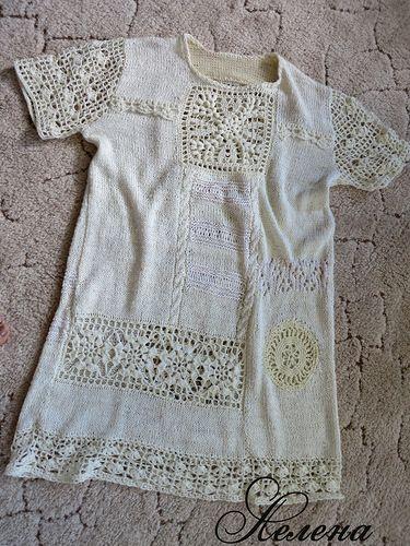 *Платье в стиле Бохо из индийского шёлка. - Все в ажуре... (вязание крючком) - Страна Мам