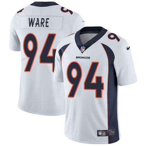 Men's Denver Broncos #94 DeMarcus Ware White Nike NFL Vapor Untouchable Limited Jersey