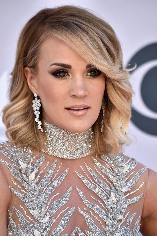 Carrie Underwood in LaBourjoisie dress at the ACM Awards