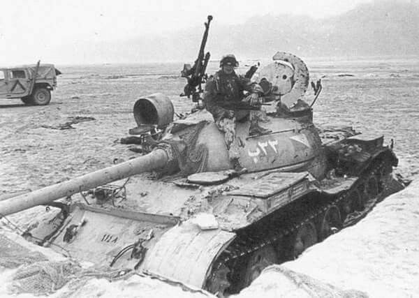 Iraq T55A at the frontier