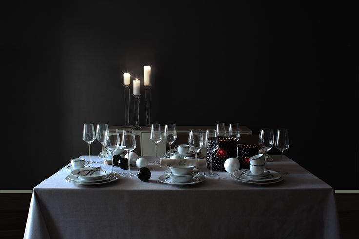 Dark tablesetting from boutique1854