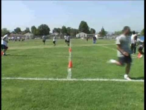 Non-Contact Angle Tackle Drill - YouTube