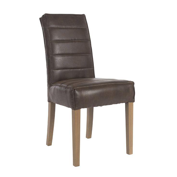 Стул с отделкой из высококачественной искусственной замши на ножках из массива дерева.             Метки: Кухонные стулья.              Материал: Дерево, Кожа искусственная.              Бренд: Teak House.              Стили: Лофт.              Цвета: Темно-коричневый.