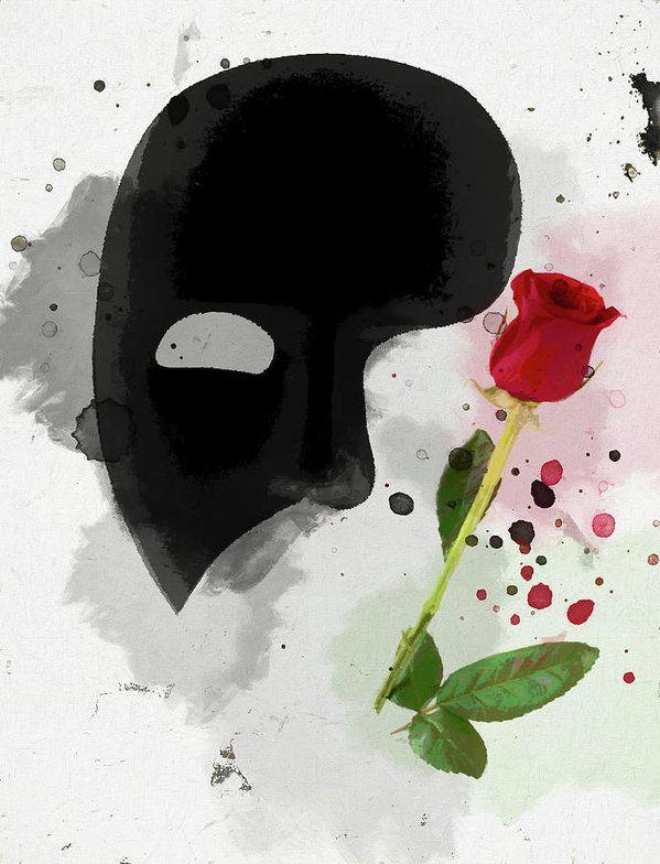 The Phantom Of The Opera Art Print By Dan Sproul Phantom Of The Opera Art Phantom