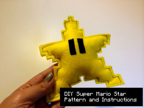 Do It Yourself DIY Pattern - Christmas tree topper Super Mario Star - $4.90 #retrogaming #christmas #treetopper