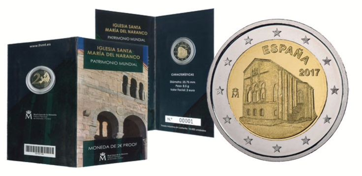 Spain Releases 1st Commemorative €2 for 2017