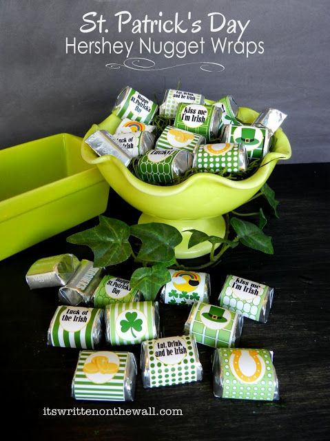 Check out our St. Patrick's Day Hershey Nugget Wraps--Sweet Treat!