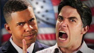 Epic Rap Battles - Mitt Romney vs. Barack Obama.  Special guest appearance by Abraham Lincoln.