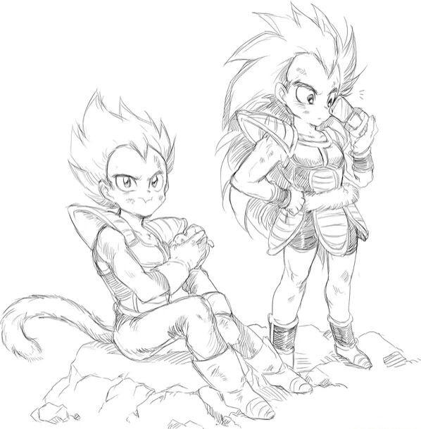 Dbz cute Vegeta and Raditz