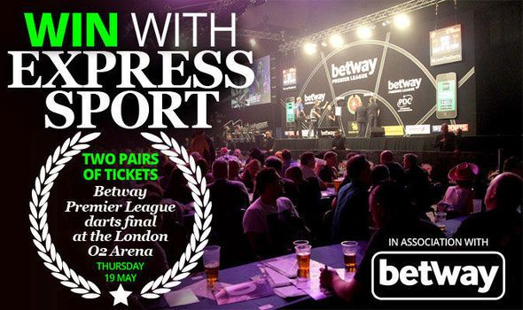 Comp: Win a pair of tickets to the Betway Premier League darts final at the 02 Arena