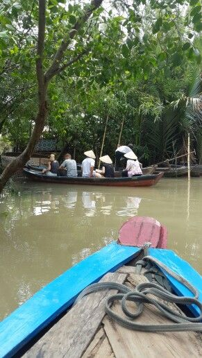 Going to visit some locals. Mekong Deltha. Vietnam