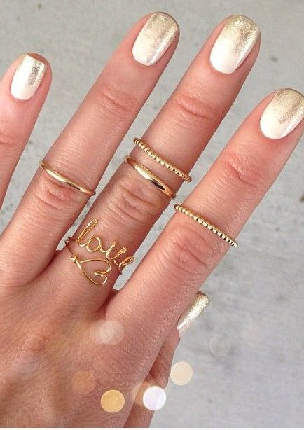 Gold Ombre.