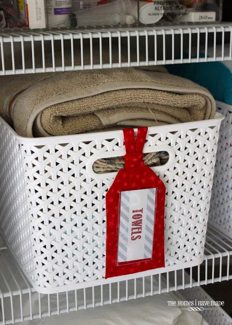 Use Luggage Tags to identify things in baskets