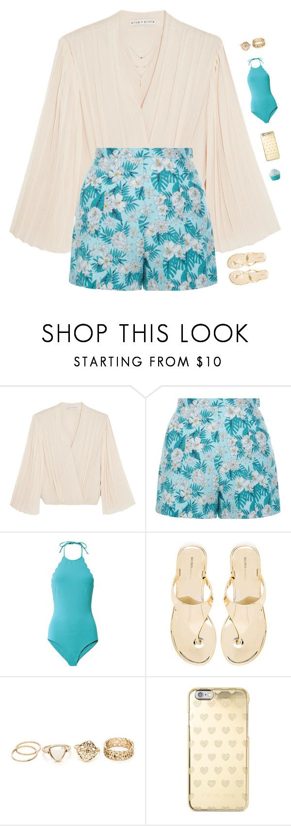 """""""Hawaii, here I come!"""" by genesis129 ❤ liked on Polyvore featuring Alice + Olivia, New Look, Marysia Swim, BCBGeneration, Michael Kors and vintage"""