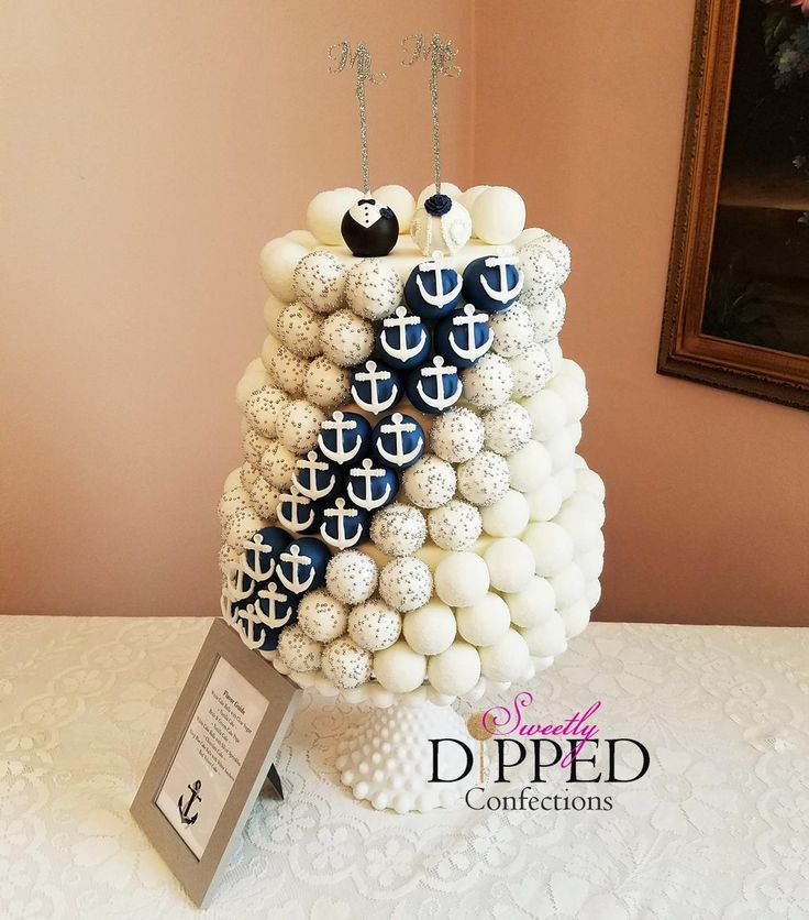 Cake Pop Wedding Cake - Nautical Theme