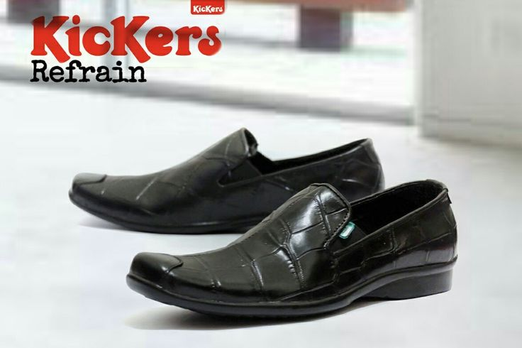 Kickers Pantople IDR 380.000 Size 39-43 Genuine Lack Leather Tpr Rubber Sole Press by Machine