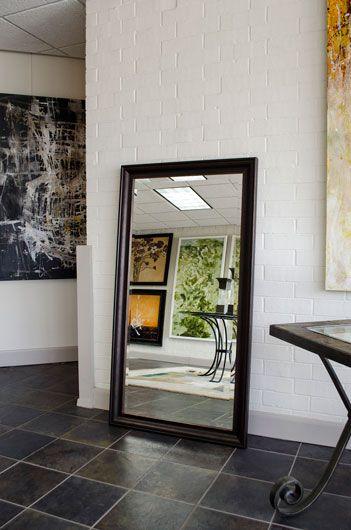 Mal 0428 Brown Framed Mirror Large Mirror Bathroom Mirror Custom Sized