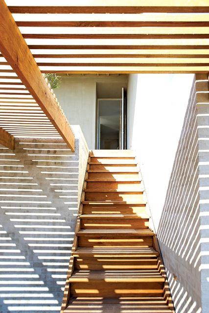 Beach house entrance, South Africa, Beattyvermeiren architects