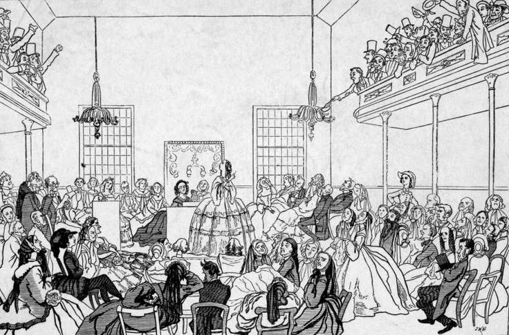 July 19,  1848: FIRST US WOMEN'S RIGHTS CONVENTION IS HELD  -    First US women's rights convention, organised by Elizabeth Cady Stanton and Lucretia Mott with almost 200 women in attendance, is held in Seneca Falls, NY.