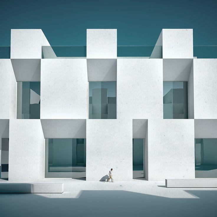 michele durazzi's surreal cityscapes juxtapose nature and architecture