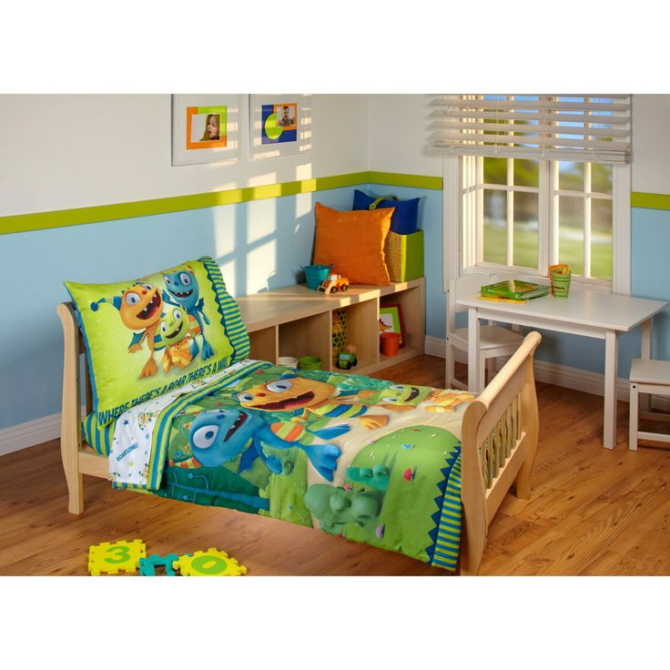 Disney Henry Hugglemonster 4 Piece Toddler Bedding Set - 4045416