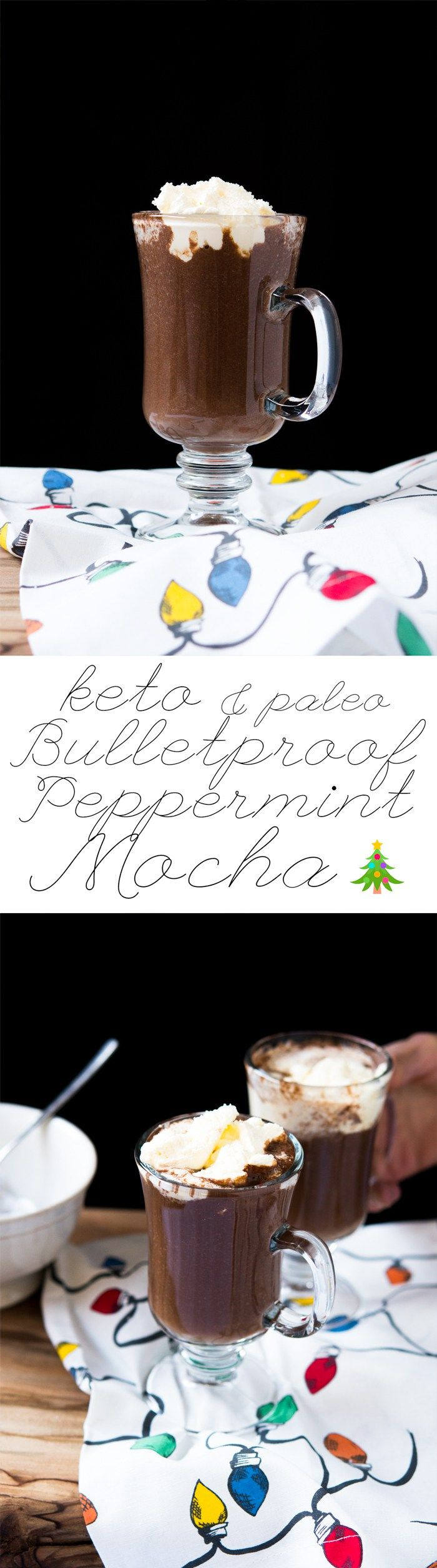 Paleo & Keto Bulletproof Peppermint Mocha Thick, Creamy and just 2g net carbs! #ketopeppermintmocha #bpc