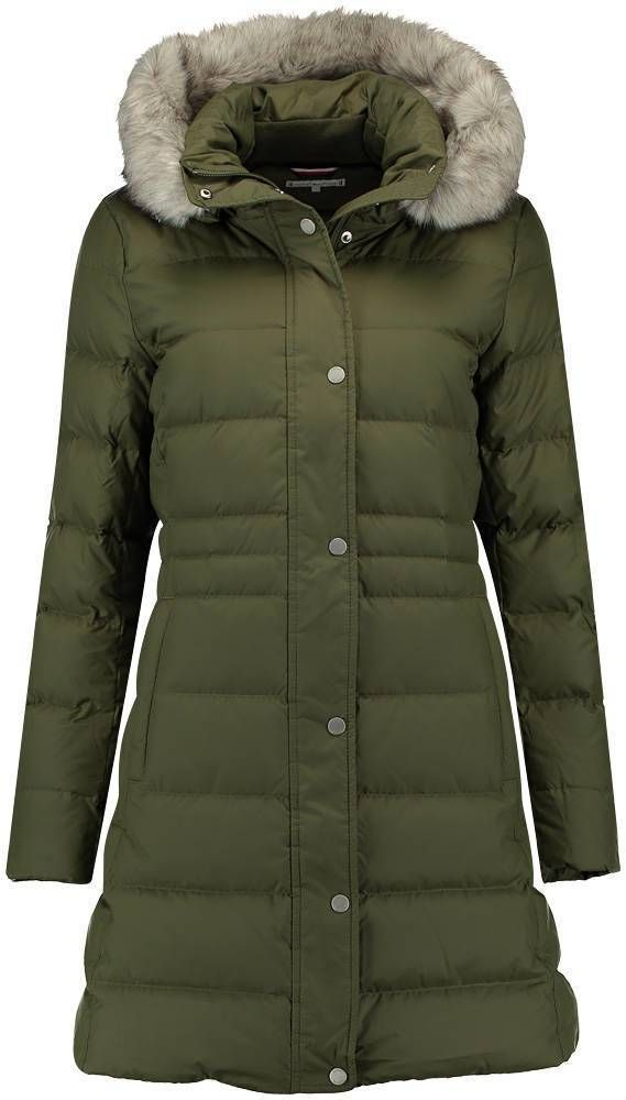 nieuw winkel klassiek New Tyra down coat - Tommy Hilfiger Jas New Tyra Groen ...
