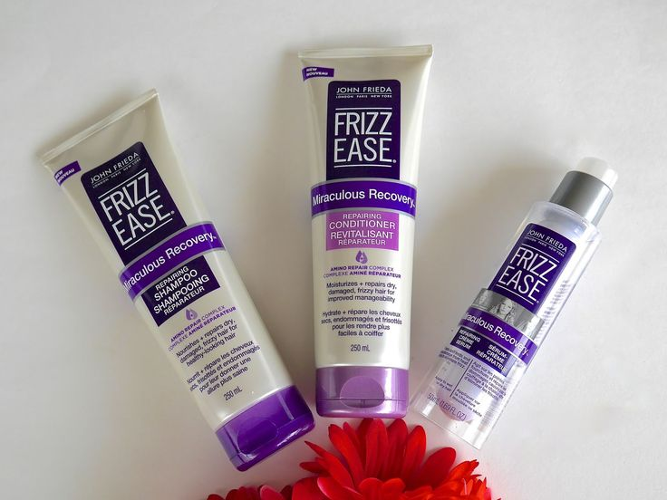 John Frieda Frizz Ease Miraculous Recovery Shampoo, John Frieda Frizz Ease Miraculous Recovery Conditioner, John Frieda Frizz Ease Miraculous Recovery Repairing Serum