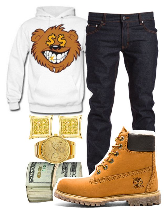 """""""This Hoodie Sick"""" by young-rich-nvgga ❤ liked on Polyvore featuring Cheap Monday, Timberland, Charlotte Russe, men's fashion and menswear"""