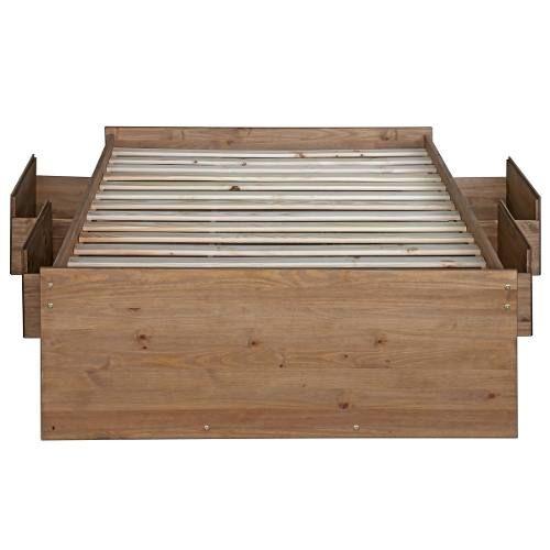 cama de casal gaveteiro, madeira maciça, cera antique cb460