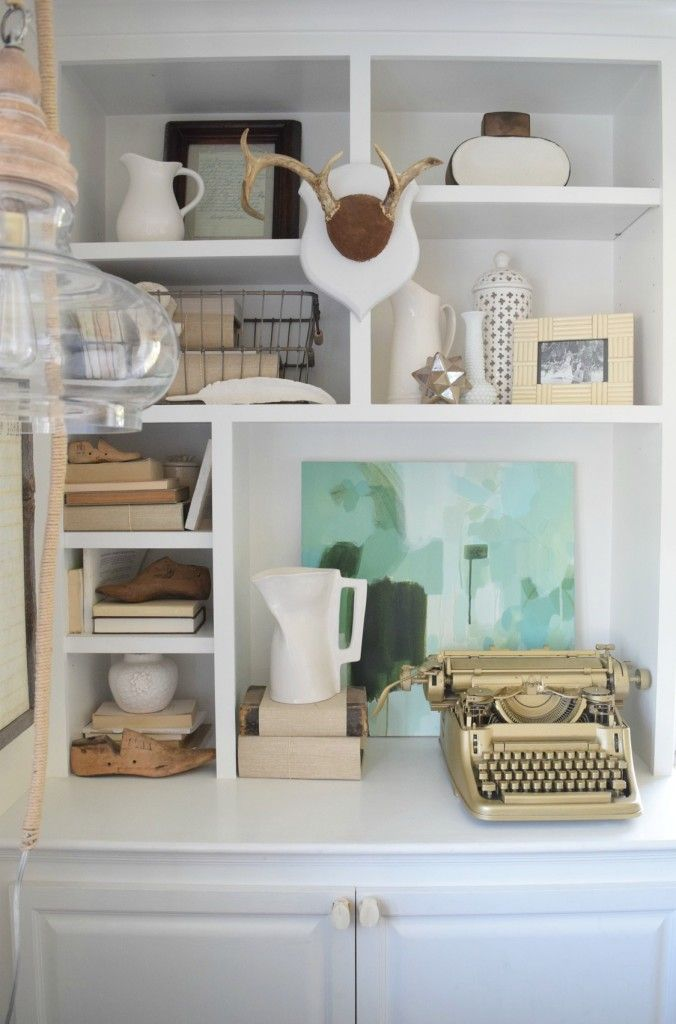 Summer Home Tour and Seasonal Decor Changes - Nesting With Grace.... Shelves!