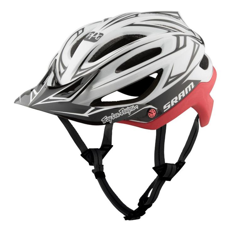 2017 TLD Troy Lee Designs White Red A2 Sram Mips Mountain Bike Helmet Bicycle
