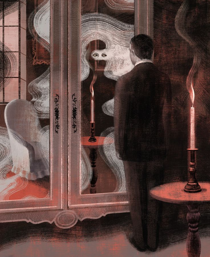 By Anna and Elena Balbusso, 2010. Illustration of Le Horla by Guy de Maupassant, Éditions Milan.