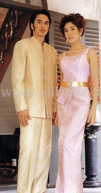 20 best thai men 39 s clothing images on pinterest for Thai style wedding dress