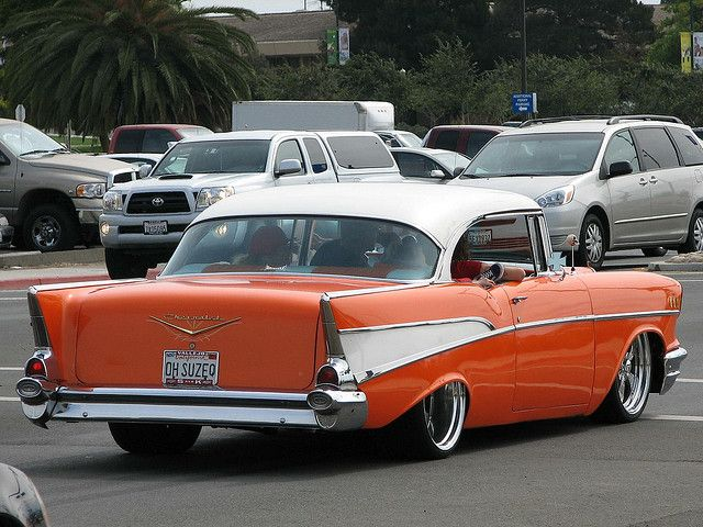 1957 Chevrolet  I use to want a pink one when I was little LOL Don't ask me why?!?! #HastingsPinPals