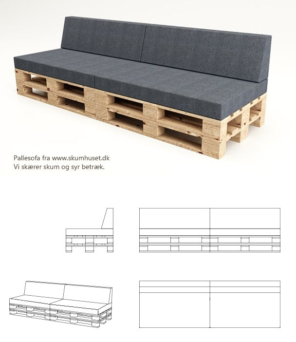 1000+ images about Pallesofa on Pinterest | Gardens, Pallet lounge and ...