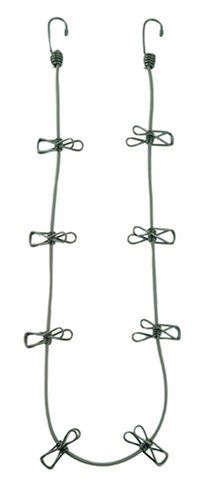 Bungee Cord Clothesline (in tent or between trees)