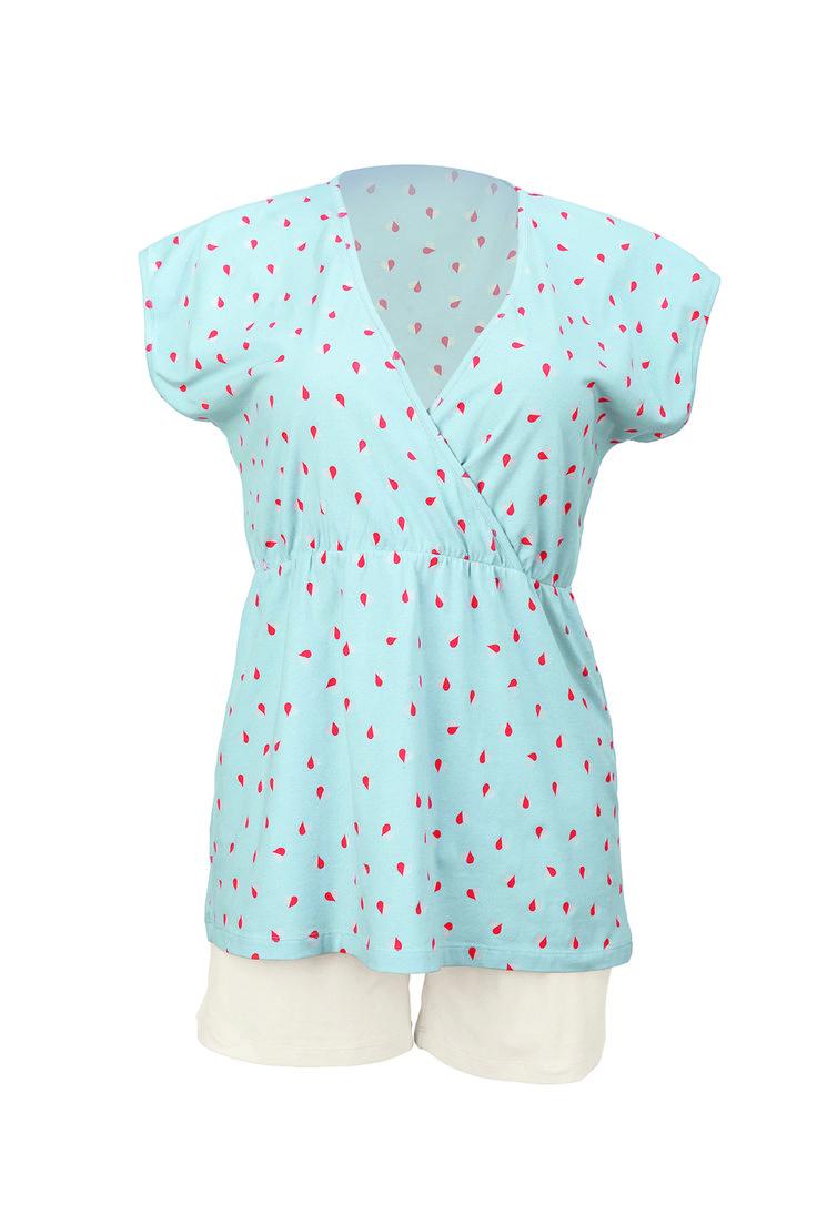 Pijama lactancia Corto Hanni [1243] - 59,95€ : Tienda premamá online. Moda prenatal para embarazadas y ropa interior para embarazo y lactancia., Demamis.com