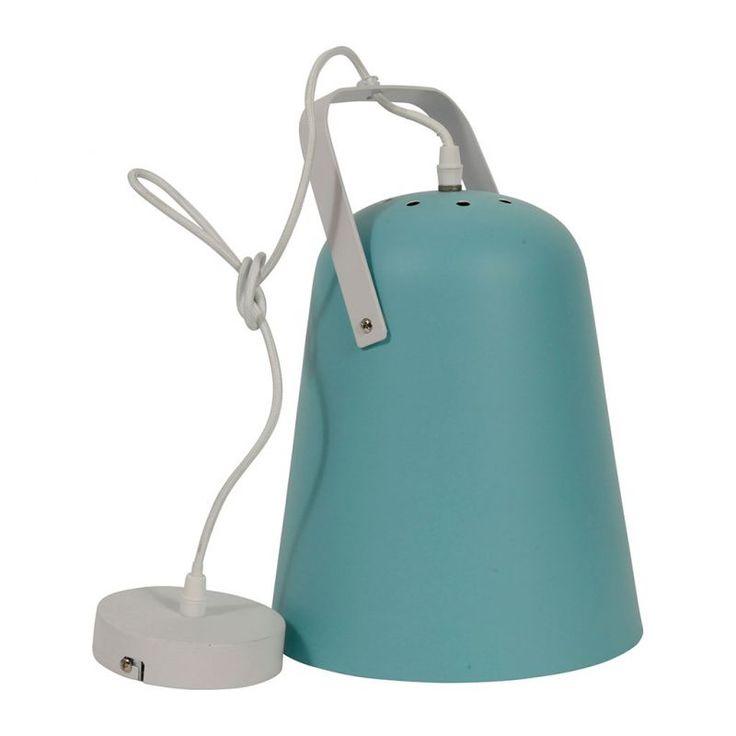 Suspension métal LETY bleue H 33cm