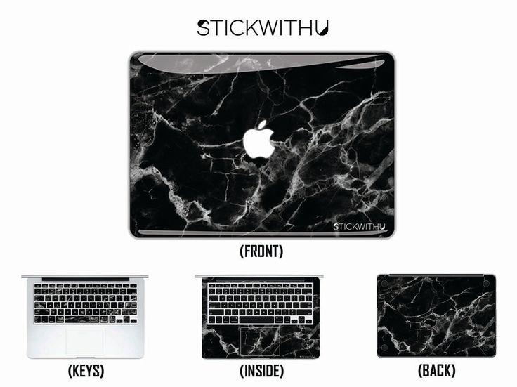 Black Marble Macbook Skin Macbook Decal Black Marble Laptop Skin Black Marble Macbook Sticker Marble Texture Laptop Decal Vinyl FSM002 by StickwithuSkins on Etsy