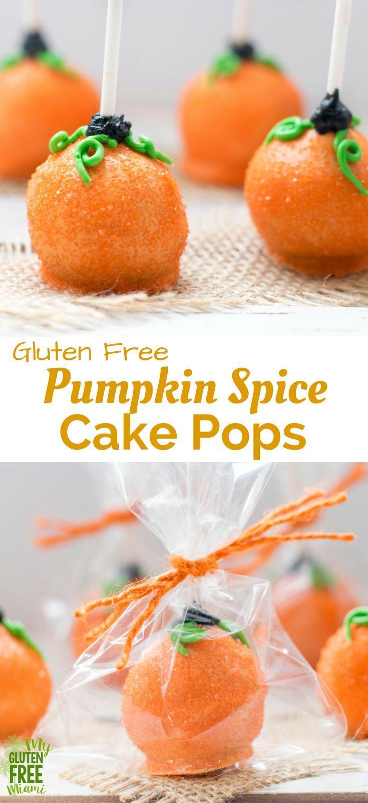 Gluten Free Pumpkin Spice Cake Pops